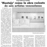 El Nuevo País Colectiva Montaje, Martes 4 de Septiembre 2012