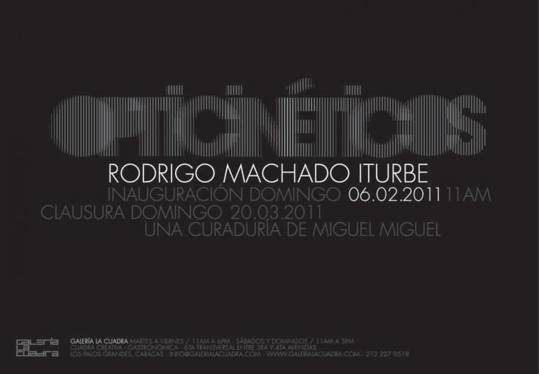 Opticinéticos, Galería La Cuadra, Febrero 2011